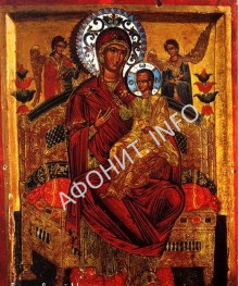 Икона Божией Матери Пантанасса XVII века