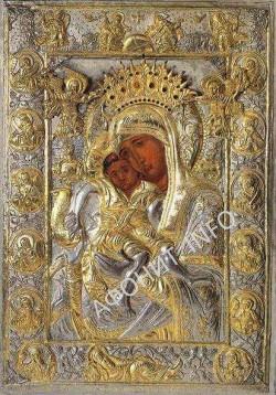 икона Божией Матери «Достойно есть» («Милующая») (греч. «Аксион Эстин»)