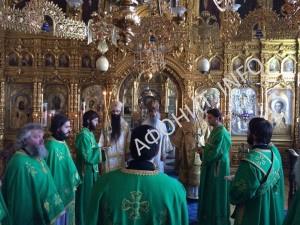 Епископ Бородянский Варсонофий в Пантелеимоновом монастыре на Афоне