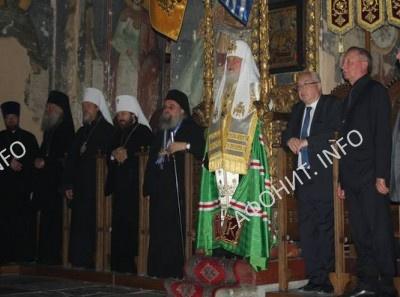 Патриарх Кирилл посетил Успенский собор Протата
