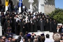 Патриарх Кирилл в Священном Киноте Афона, 27 мая 2016. Фото Сергея Шумило