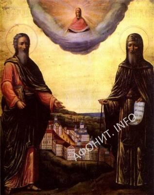 Апостол Андрей Первозванный и прп. Антоний Печерский