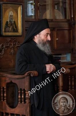 Предстоятель УПЦ Митрополит Онуфрий в Афонском Свято-Пантелеимоновом монастыре