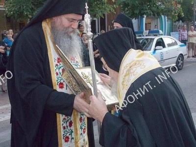 часть Животворящего Креста Господня в городе Агринио