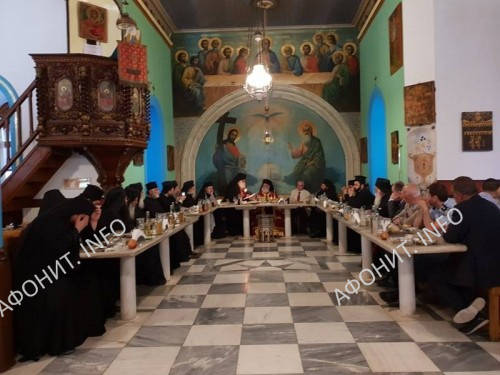 Патриарх Александрийский Феодор в монастыре Святого Павла на Афоне