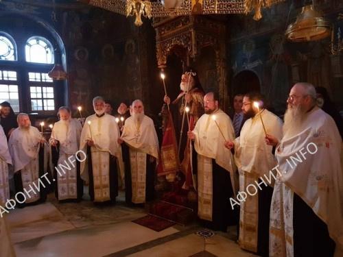 Патриарх Александрийский Феодор на Святой Горе Афон