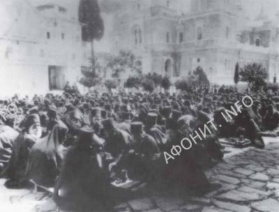 Братия Русского Андреевского скита на Афоне