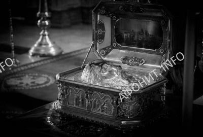 Глава Апостола Андрея Первозванного в Русском Андреевском скиту на Афоне