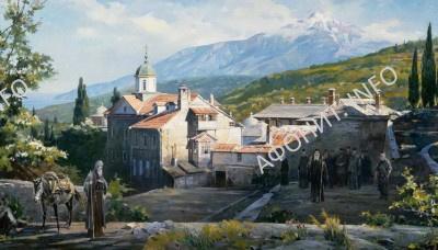 Прп. Антоний Печерский в Ксилургу