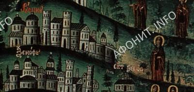 Франгмент иконы Всех Афонских Святых, Антоний Печерский