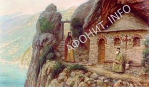 Антоний Печерский на Афоне