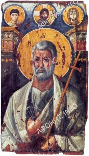 Апостол Петр. Энкаустическая икона. VI в. Монастырь св.Екатерины, Синай, Египет