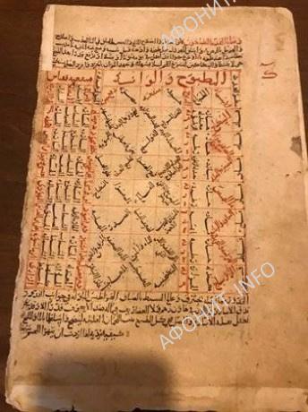 Арабский манускрипт, найденный на Святой горе Афон