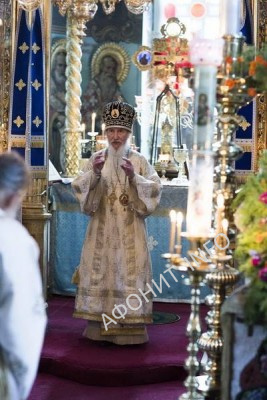 Архиепископ Марк (Арндт) в Пантелеимоновом монастыре на Афоне, сентябрь 2015 г.