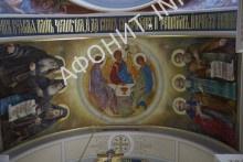 Русские афонские старцы Иероним (Соломенцов), Арсений Афонский и Макарий (Сушкин). Фреска в соборе Старого Русика
