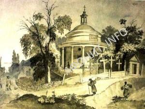 Аскольдова могила Никольская церковь на Аскольдовой могиле Картина Тараса Шевченко