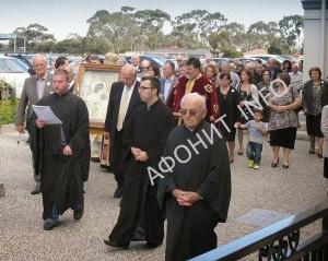 В Австралию с Афона доставлен список Иверской иконы Богородицы