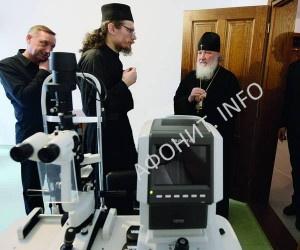 Посещение больницы Пантелеимонова монастыря Патриархом Кириллом
