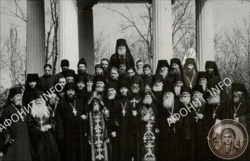 Братия Одесского Успенского монастыря, 1959 г. О. Иеремия 2-й справа в верхнем ряду
