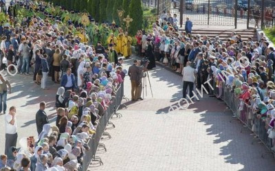 В Брянск принесены мощи преподобного Силуана Афонского и чудотворная икона Спасителя
