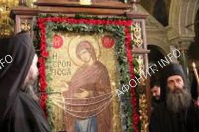 Афонская чудотворная икона Богородицы «Геронтисса» в Варне