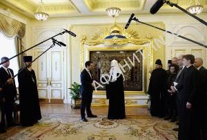 Патриарх Московский Кирилл и Премьер-министр Греции Алексис Ципрас
