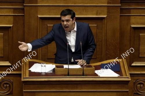 Выступление А. Ципраса в парламенте Греции