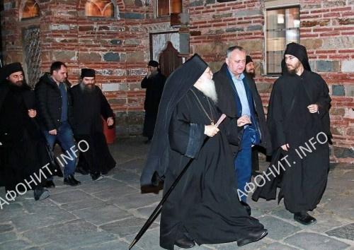 Президент Республики Молдова Игорь Додон прибыл на Святую Гору Афон