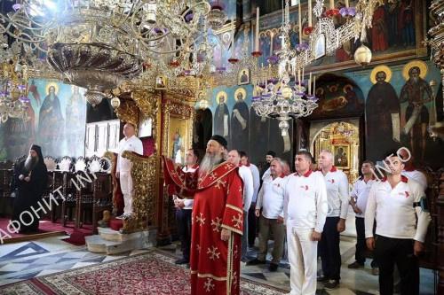 Глава Молдовского государства прибыл в Русский Пантелеимонов монастырь на Афоне