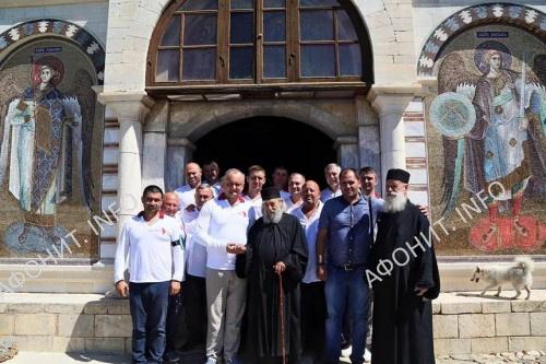 Глава Молдовы посетил Дохиарский и Зографский монастыри на Афоне