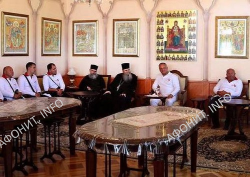 Президент Молдовы в монастыре Ксиропотам
