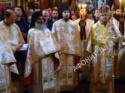 Празднование Собора Архистратига Михаила и прочих Небесных Сил бесплотных на Афоне. Монастырь Дохиар, ноябрь 2016