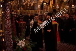 Богослужение в Афонском монастыре Дохиар