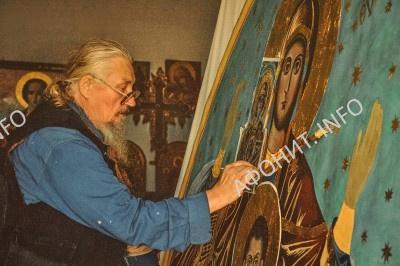 Афонский монах и художник о. Ефрем (Макаров)