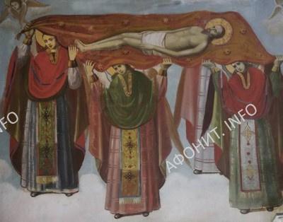 фреска из алтаря Кирилло-Мефодиевского храма