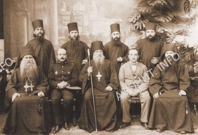 Визит в Руссик Генереального консула Б. С. Серафимова (на фото в мундире), 12 сентября 1915 г.