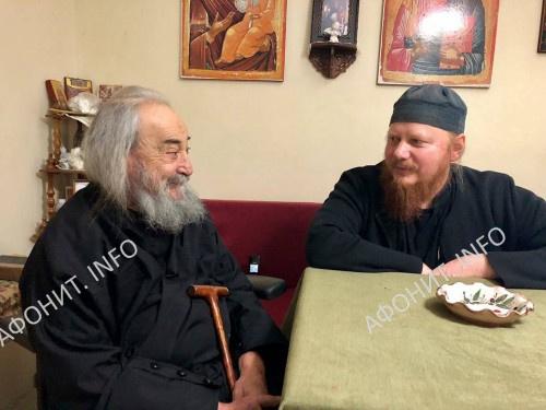Архиепископ Иона (Черепанов) и геронда Григорий (Зумис)