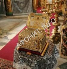 Глава святого великомученика и целителя Пантелеимона в Русском на Афоне монастыре
