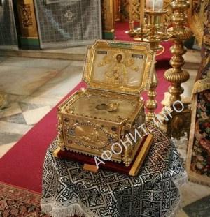 Глава святого Целителя Пантелеимона Русский на Афоне Свято-Пантелеимонов монастырь