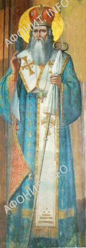 Святитель Григория Палама. Фреска из Русского на Афоне Свято-Пантелеимонова монастыря