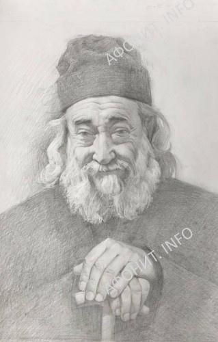 Портрет Геронды Григория, написанный послушницей Ольшанского женского монастыря и переданный в дар братии Дохиарской обители