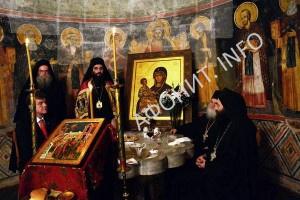 Сербский Афонский монастырь Хиландар на Святой Горе Афон