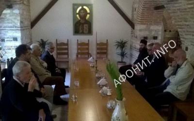 Хиландарский монастырь на Афоне, заседание Комиссии по восстановлению обители, 2015 г.