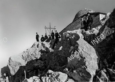 На вершине Святой Горы. Фото XIX века