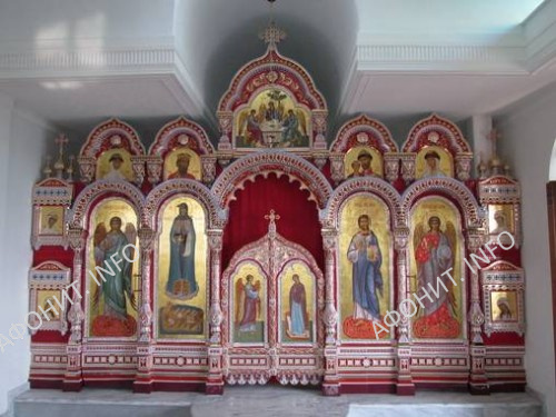 Иконостас в Храме в честь Собора всех святых русских государей на Афоне