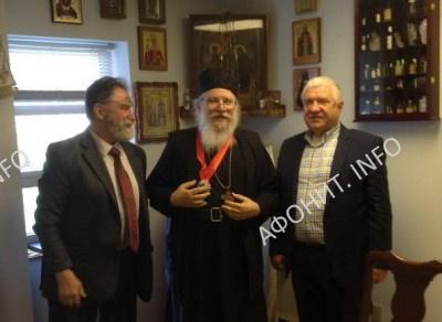 С ректором семинарии о. Лукой