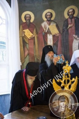 Награждение Игумена Иеремии от имени Предстоятеля УПЦ Митрополита Онуфрия