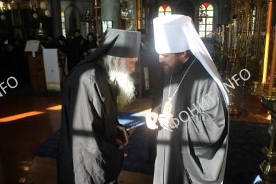 Игумен Иеремия (Алехин) и Митрополит Иларион (Алфеев)