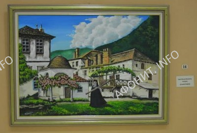 Выставка картин о Святой Горе Афон в Иериссосе