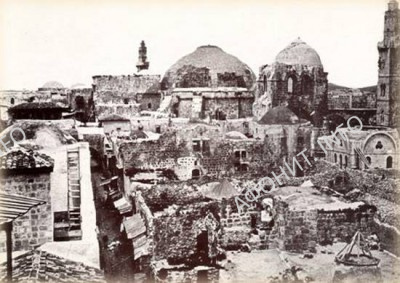 Руины площади Муристан рядом с храмом Гроба Господня